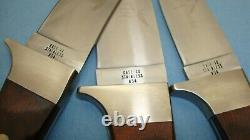 1965 1980 SET OF 3 CASE XX USA R703 R603 R503 SSP FIXED BLADE KNIFE With SHEATHS