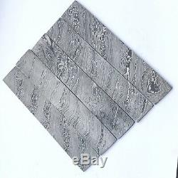 1AHandmade A 10 Inc Damascus Steel Blank Billet For Knife Making Set of 5