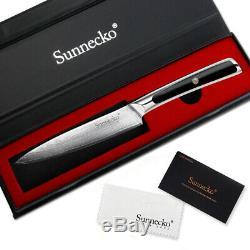 4 Pcs Japanese VG10 Steel Kitchen Knife Sets Damascus Chef knife set G10 Handle