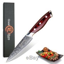 4 Pcs Steak Knife Sets Damascus VG10 Japanese Stainless Steel Kitchen Knife Set