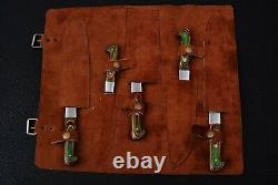 5 HAND FORGED DAMASCUS STEEL CHEF KITCHEN KNIFE SET WithWOOD HANDLE AH 1692