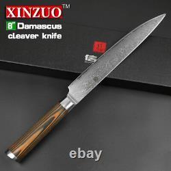 5 Pcs Kitchen Knife Set 73 Layers Japanese VG10 Damascus Steel Chef Wood Handle