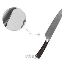 6PCs Set Stainless Steel Kitchen Knives Inch Fruit Utility Santoku Chef Slicing