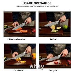 8pcs Stainless Steel Japanese Kitchen Knife Set for Pro's Chefs
