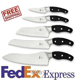 Amway iCook 5-Piece Knifeware Set 102709E Kitchen Knife German Stainless Steel