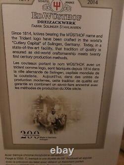 Black Wüsthof Classic Ikon 7pc Knife Block Set Brand New Wedding Gift Germany