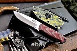 CFK Handmade VG10 Custom Tactical Bushcraft Hunting Blade Knife Kydex Sheath Set