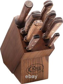 Case Cutlery Kitchen Blade Nine Piece Wooden Block Walnut Handle Knife Set 10249