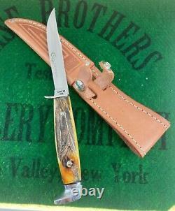 Case xx black letter fixed blade set 1976 complete 4 knife pumpkin box unused