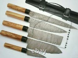 Chef Knife Custom&Handmade Damascus Steel Sharp Edge Kitchen & Steak Knives Set