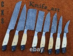 Chef Knife Set Custom&Handmade Damascus Steel Sharp Blade Kitchen Knives Tool