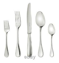 Christofle Perles 2 Stainless Steel 5-pc Place Setting #2405185 French Save$ F/s