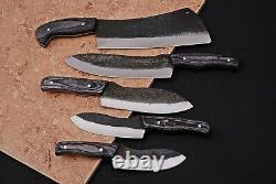 Custom Handmade 1095 High Carbon Steel Chef Knife Kitchen Set Zs 17