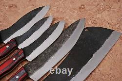 Custom Handmade 1095 High Carbon Steel Chef Knife Kitchen Set Zs 18