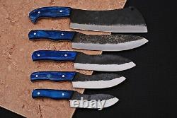 Custom Handmade 1095 High Carbon Steel Chef Knives Kitchen Set Zs 19