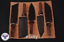 Custom Handmade 1095 High Carbon Steel Chef Knives Kitchen Set Zs 26