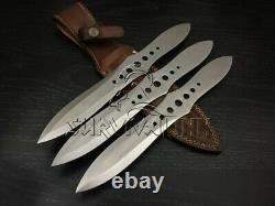 Custom Handmade D2 Steel Tactical Combat Throwing Knife Set, Ninja Naruto Kunai