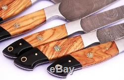 DAMASCUS CHEF/KITCHEN KNIFE CUSTOM MADE BLADE 9 Pcs. Set. EC-1040-OH