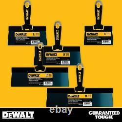 DEWALT Drywall Taping Knife Set Premium Blue Steel 6-8-10-12-14 with Soft Grip