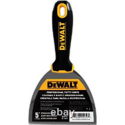 DEWALT Hand Tool Set Stainless Steel Taping & Putty Knives, Mixers + Mud Pan