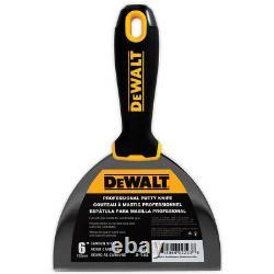 DEWALT Putty Knife Set 6pc 3-4-5-6-8-10 Carbon Steel Drywall Finishing Tools