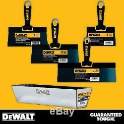 DEWALT Taping Knife Set Premium Blue Steel 6-8-10-12 with 16 Heli-Arc Mud Pan