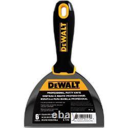 DEWALT Taping Knife Set Premium Stainless Steel 8-10-12-14 + 6 Putty Knife