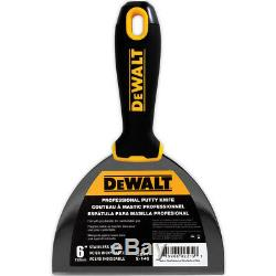 DEWALT Taping Knife Set Stainless Steel 10-12 with 14 Mud Pan + 6 Putty Knife