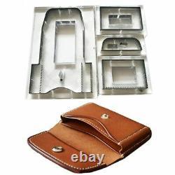 DIY Leather Craft Wallet Wooden Die Cutting Knife Template Japan Steel Blade Set