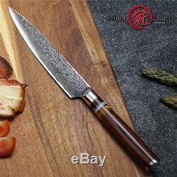 Damascus Kitchen Knife Set 4 Pcs Japanese Damascus Steel Kitchen Knives Chef New