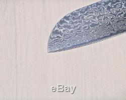 Damascus Kitchen Knife Set Japanese VG10 Steel 8 Chef Santoku Chopping Knives