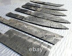 Damascus Steel Handmade Blank Bade Kitchen-knife-7 Pieces Chef Set