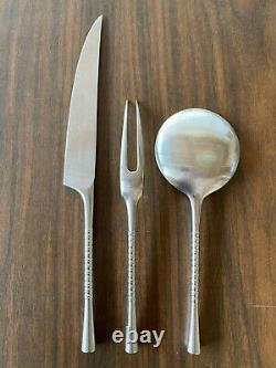 Dansk Jette Flatware Mid-Century Stainless Steel Knife and Fork Serving Set Jens