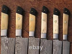 Eye Catching Custom Made Damascus Steel Professional Kitchen Knife set-DB-071-BH