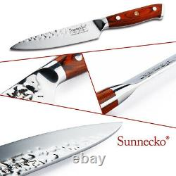 Forged Utility Steak Knives Set, 5 inch German Stainless Steel Table Meat Slicer