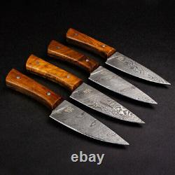 Forseti Steel Cattleman Limited Edition Damascus Steel Steak Knives Set of 4