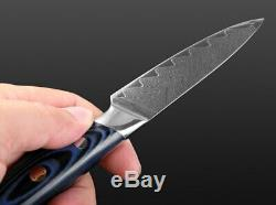 Full Tang Japanese Kitchen Knife Set VG10 Damascus Steel 67 Layers 4PCs Knives L