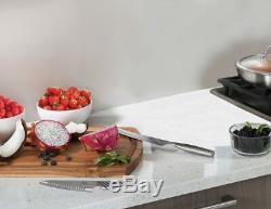 Gotham Steel Pro Cut Stainless Steel Super Sharp 10 Piece Knife Set w Wood Block