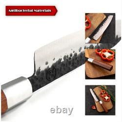 Handmade Kitchen Knife High Carbon Steel Chef Santoku Nakiri Kiritsuke Knife Set