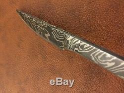 Handmade Pattern Welded Damascus Steel Cutlery Set of 3-Fork, Spoon