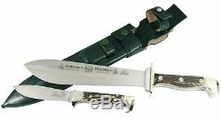 Hubertus German Waidbesteck Hunting 2 Knife Set Blade Carbon Steel C45 / Stag