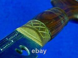 Indian India Gurkha Kukri Large Fighting Knife Short Sword Scabbard Set