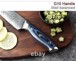 Japanese Genuine VG10 Damascus Steel Kitchen Knives Paring Boning chef Knife Set