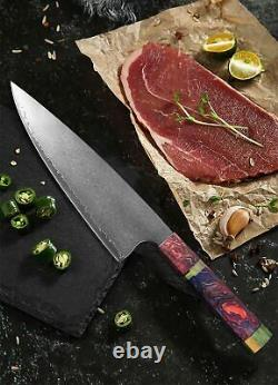 Japanese Knife Set Chef Cleaver Damascus Steel 67 Layers Handmade Wooden Handle