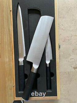 Kamikoto Genuine Japanese Niigata Steel Kanpeki 3 Knife Set Free Shipping