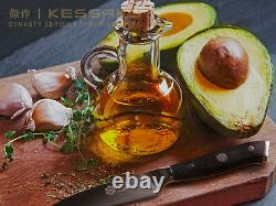 Kessaku 8 Chef+ 8 Bread + 3.5 Paring Knife Set Dynasty Series German Steel