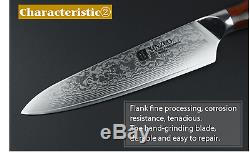 Kitchen Knife Cook Damascus Steel Set Chef Sharp Quality Professional Cleaver