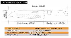 Kitchen Knife Quality Stainless Steel Set Knives Chef Full Professional Santoku