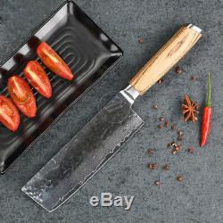 Kitchen Knife Set Damascus Japanese VG10 Steel 8'' Chef Knife Santoku Knife 5PCS
