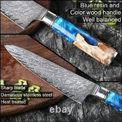 Kitchen Knives-Set XITUO Damascus Steel VG10 Chef Knife Cleaver Paring Bread